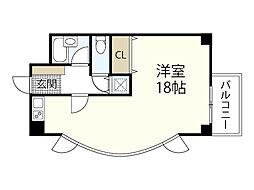 JR山陽新幹線 広島駅 徒歩22分の賃貸マンション 3階ワンルームの間取り