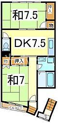 テラスあたご3[2階]の間取り