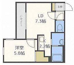 北海道札幌市東区北三十九条東1丁目の賃貸マンションの間取り