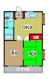キャッスルハイツ[5階]の間取り