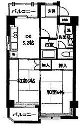 東京都西東京市田無町3丁目の賃貸マンションの間取り