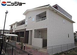 愛知県豊橋市王ケ崎町字宮脇の賃貸アパートの外観
