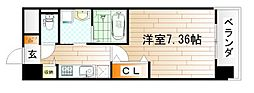 CENTER MARK三萩野[8階]の間取り