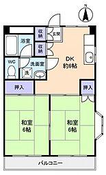 村越マンション[3階]の間取り