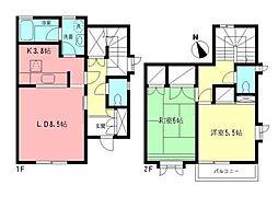 トラッドスクエアL[1階]の間取り