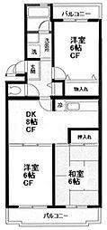 いずみ野駅徒歩5分 エスポワールいずみ野403号室[4階]の間取り