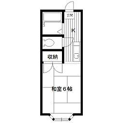 東京都練馬区向山の賃貸アパートの間取り