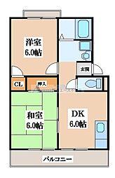 エステートピアハヤシ[2階]の間取り
