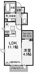(仮称)D-room小川 B棟[1階]の間取り