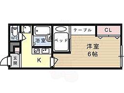 JR東海道・山陽本線 摂津富田駅 バス10分 奈佐原下車 徒歩3分の賃貸アパート 1階1Kの間取り