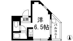 吉永ビル多田駅前[3階]の間取り