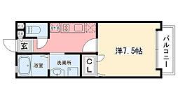 兵庫県西宮市甲子園七番町の賃貸アパートの間取り