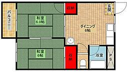 帝塚山スカイマンション[5階]の間取り