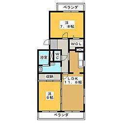 エスポワール清風II番館[2階]の間取り