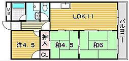 グリーンメゾン岡本[2階]の間取り