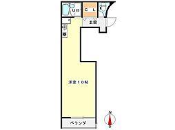 MフラッツIII 3階ワンルームの間取り