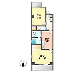 城西FUJIマンション[202 号室]の間取り