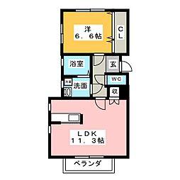 愛知県春日井市追進町3丁目の賃貸アパートの間取り