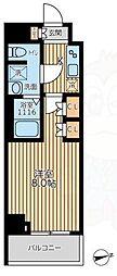 京王線 八幡山駅 徒歩10分の賃貸マンション 6階1Kの間取り