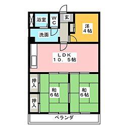 コバヤシミルクハウス[4階]の間取り