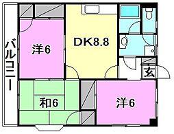 藤井ハイツ[301 号室号室]の間取り
