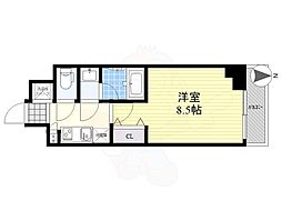 LUMEED CUBE 菊川 PREMIUM 3階1Kの間取り