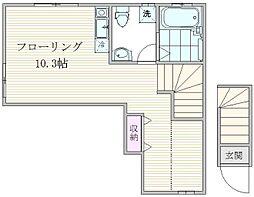 東京都荒川区荒川6丁目の賃貸アパートの間取り