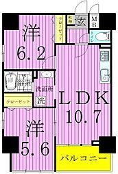 東京都足立区六町1丁目の賃貸マンションの間取り