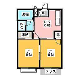 ハイツ平田I[2階]の間取り