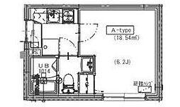 東京都板橋区中台2丁目の賃貸マンションの間取り