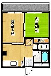 アリエス360[5階]の間取り