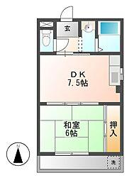 サンハイツ高蔵[3階]の間取り