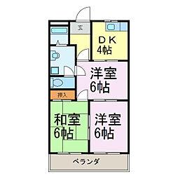 愛知県知多郡美浜町北方1丁目の賃貸マンションの間取り