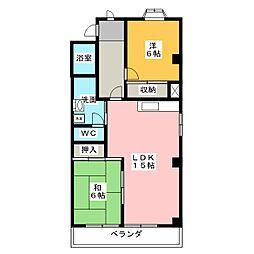 エクセルK[3階]の間取り
