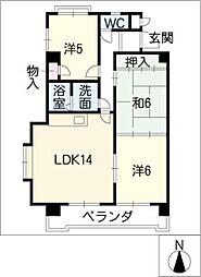 ドミール藤井[1階]の間取り