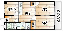 シャトレ苅田II[6階]の間取り