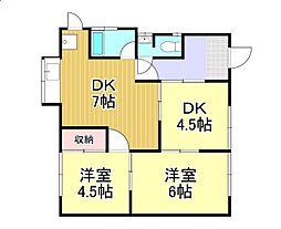 中島塩津様借家[1階]の間取り