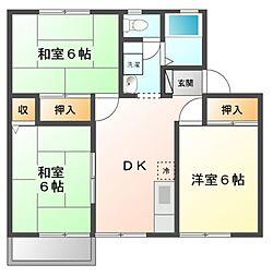 ルネハウスA棟、B棟[2階]の間取り