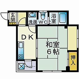 カーサ飯島[301号室]の間取り