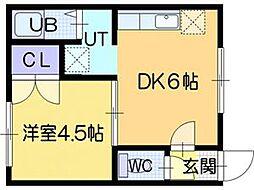 ルミエール文京台[1階]の間取り