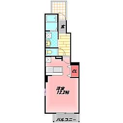 Osaka Metro谷町線 大日駅 徒歩19分の賃貸アパート 1階ワンルームの間取り