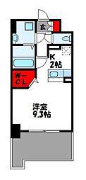 JR篠栗線 柚須駅 徒歩24分の賃貸マンション 4階1Kの間取り