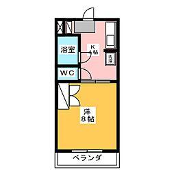マンション四ツ池[1階]の間取り