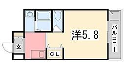 飾磨中村コーポ[C-9号室]の間取り