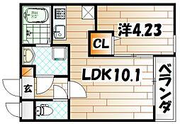 グランドプレミアム三萩野[2階]の間取り