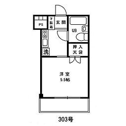 サンスクエア・オオヤマ[2階]の間取り