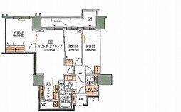 シティハウス札幌大通東 3階3LDKの間取り