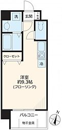 JR京浜東北・根岸線 大宮駅 徒歩5分の賃貸マンション 2階ワンルームの間取り