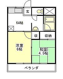 別所ビル[4階]の間取り