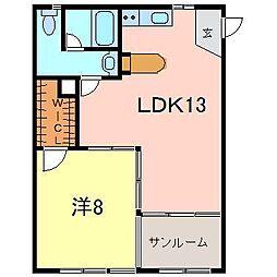 ファミール井ケ谷A[306号室]の間取り